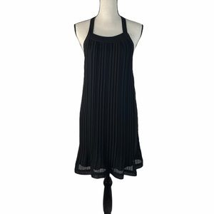 JOHNNY MARTIN Women Backless Pleated Black Dress